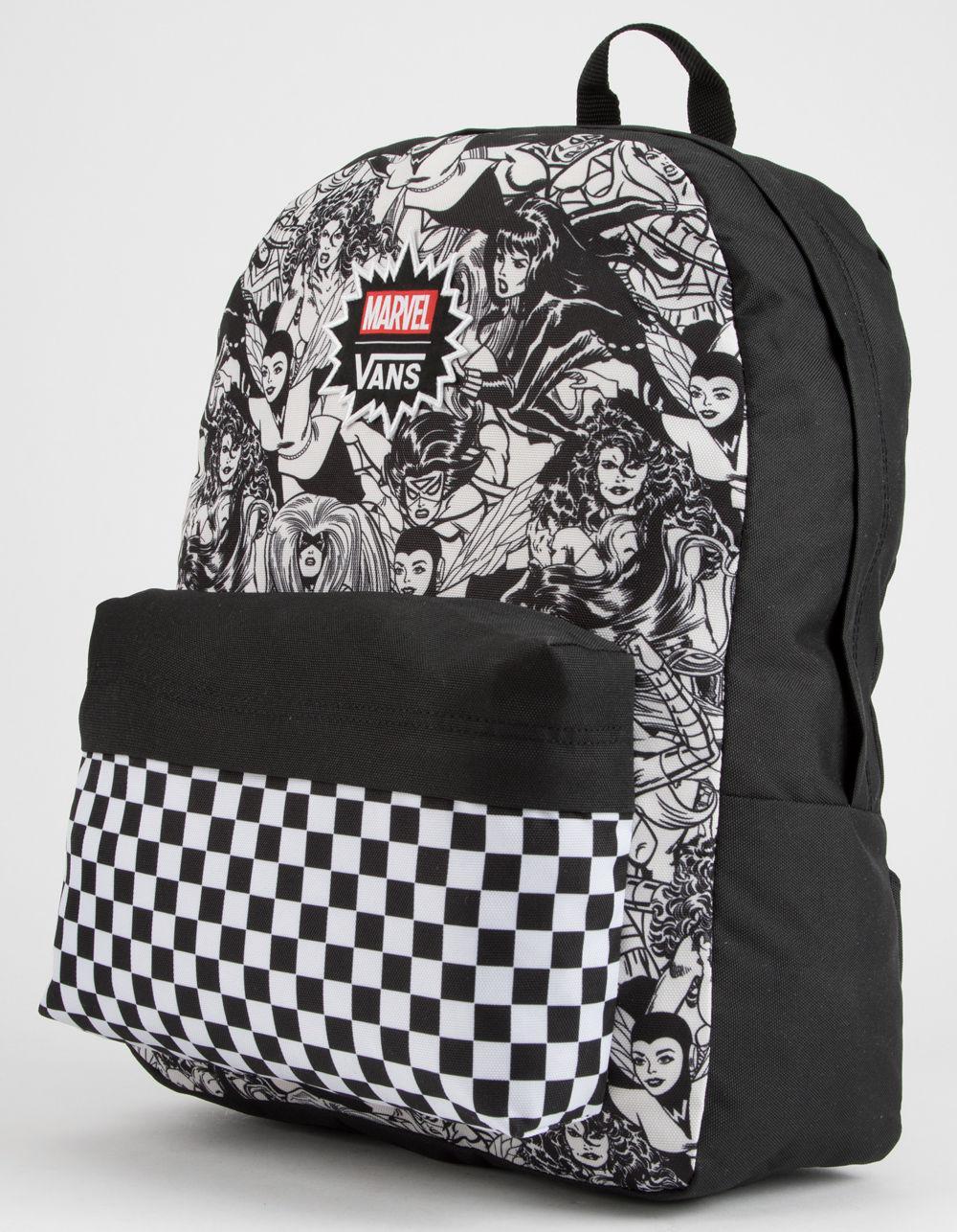 Lyst - Vans X Marvel Marvel Women Realm Backpack in Black d0b701c5a31b6