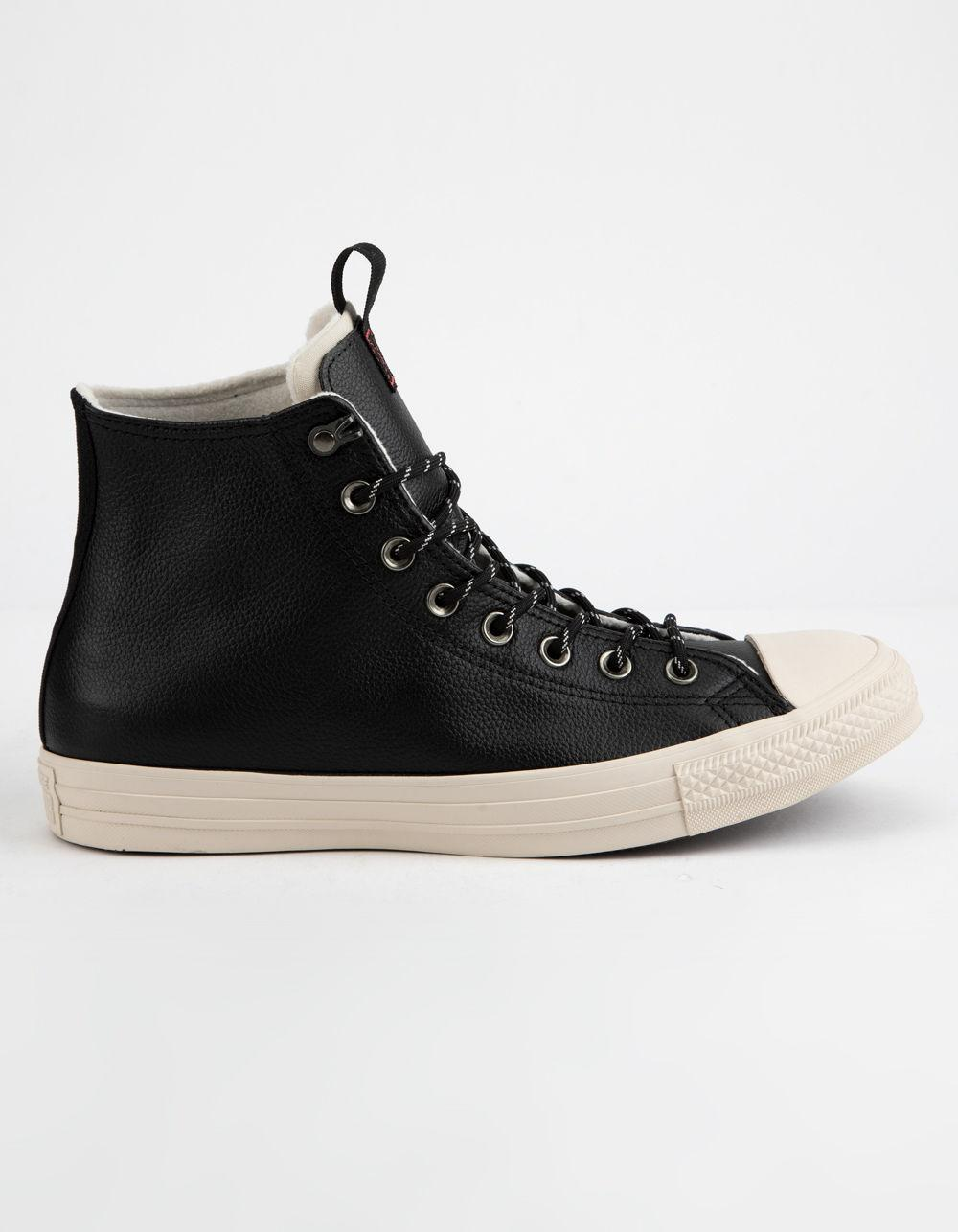 0db27acad6a4c4 Converse. Men s Chuck Taylor All Star Leather Black   Driftwood High Top  Shoes