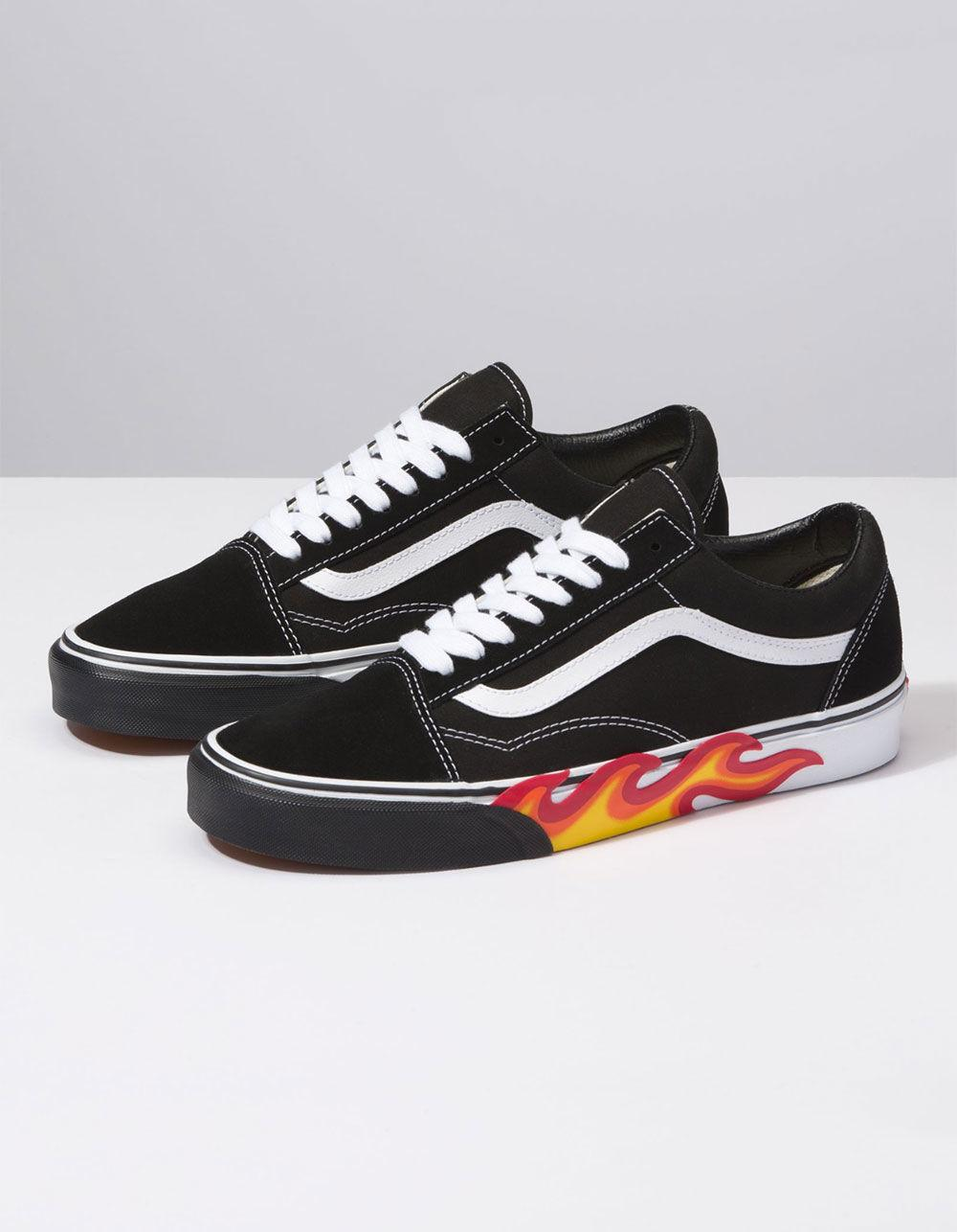 fdde999b485 Lyst - Vans Flame Cut Out Old Skool Shoes in Black for Men