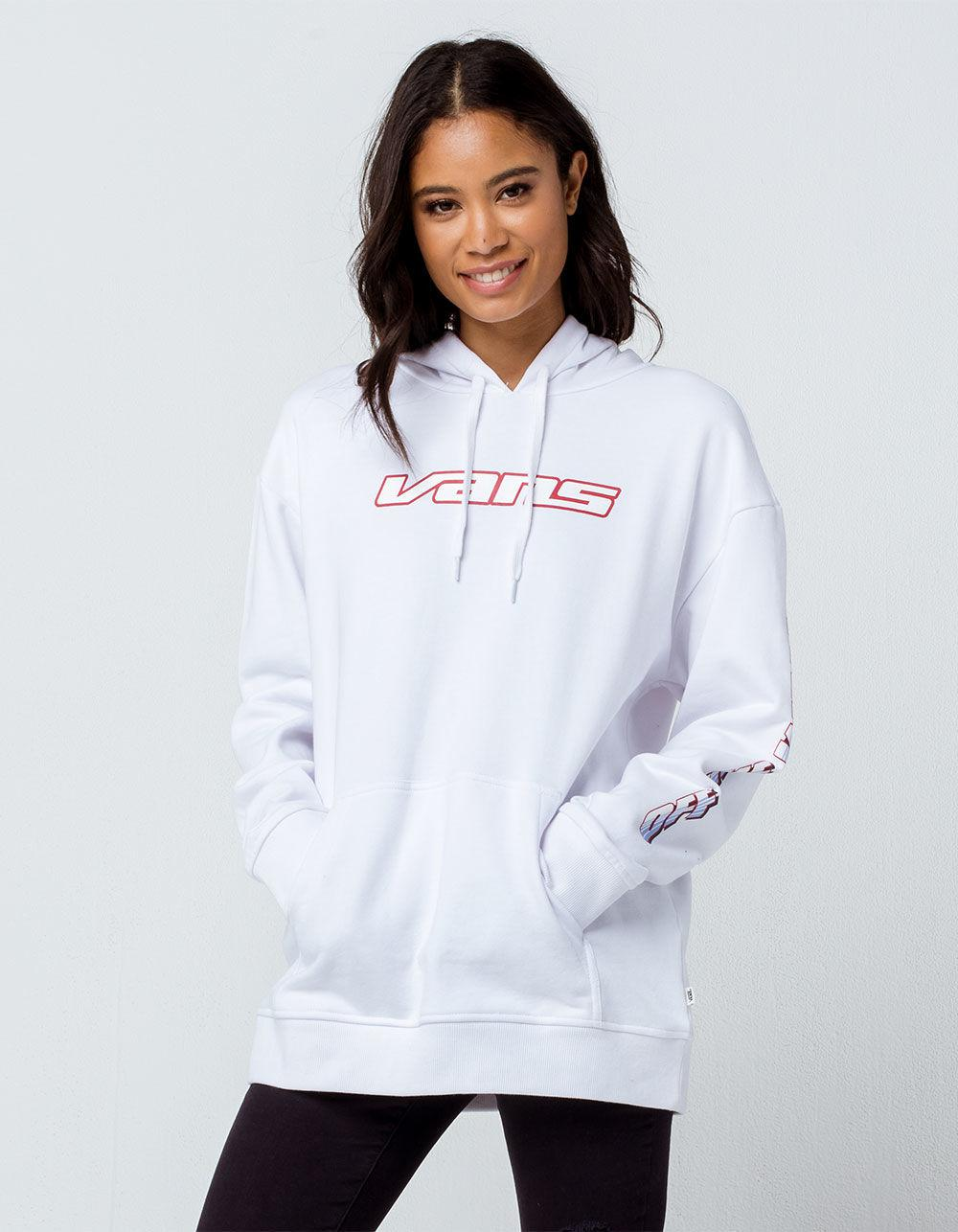 03bcacbc534 Lyst - Vans Pilot White Womens Oversized Hoodie in White - Save 37%
