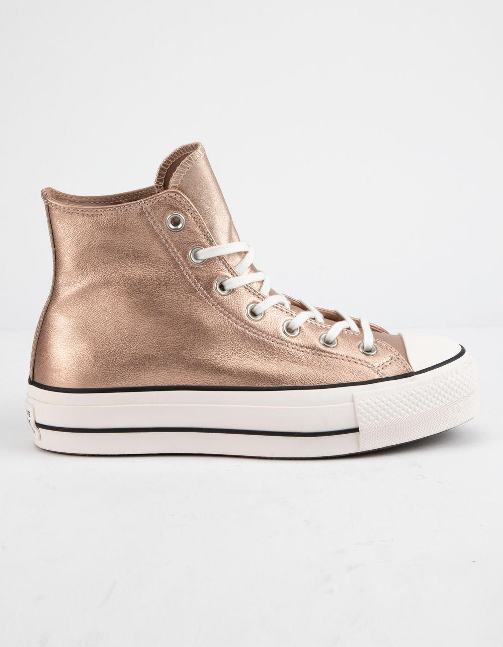 784eac223 Converse Chuck Taylor All Star Lift Particle Beige & White Womens ...