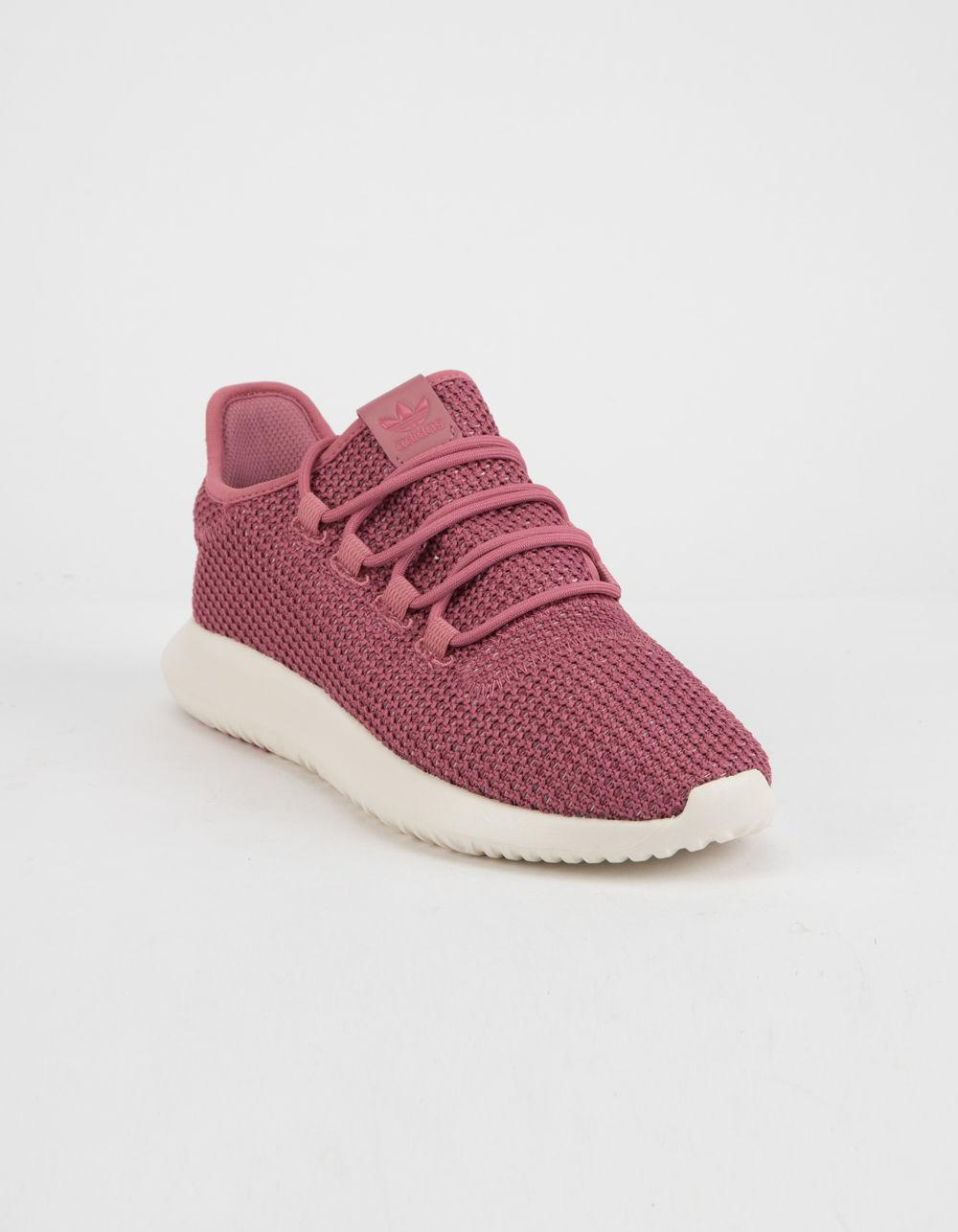 9ce48f95a549 Lyst - adidas Tubular Shadow Trace Maroon   Chalk White Womens Shoes