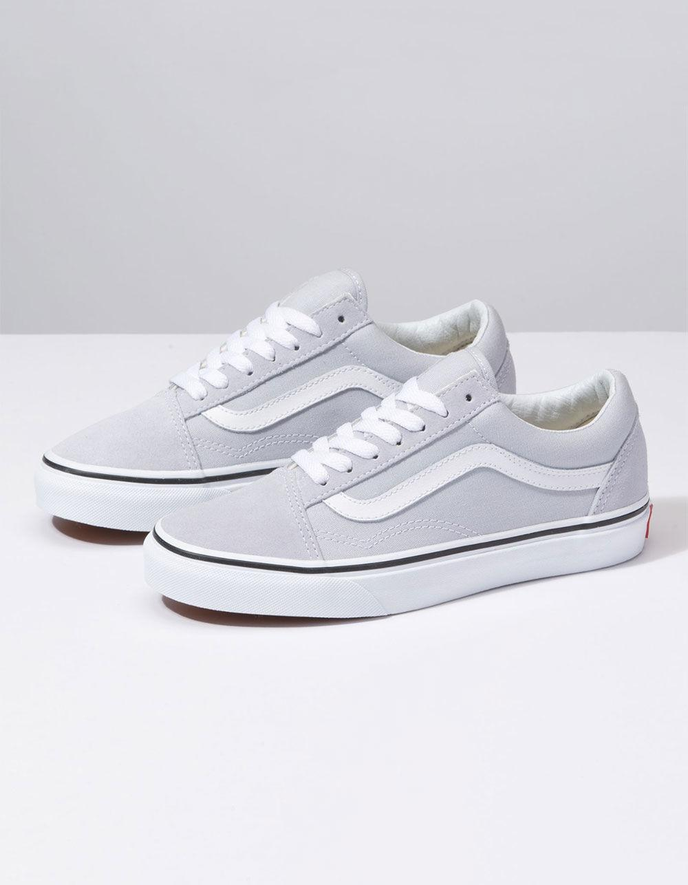 6e77723a5d Lyst - Vans Old Skool Gray Dawn   True White Womens Shoes in White