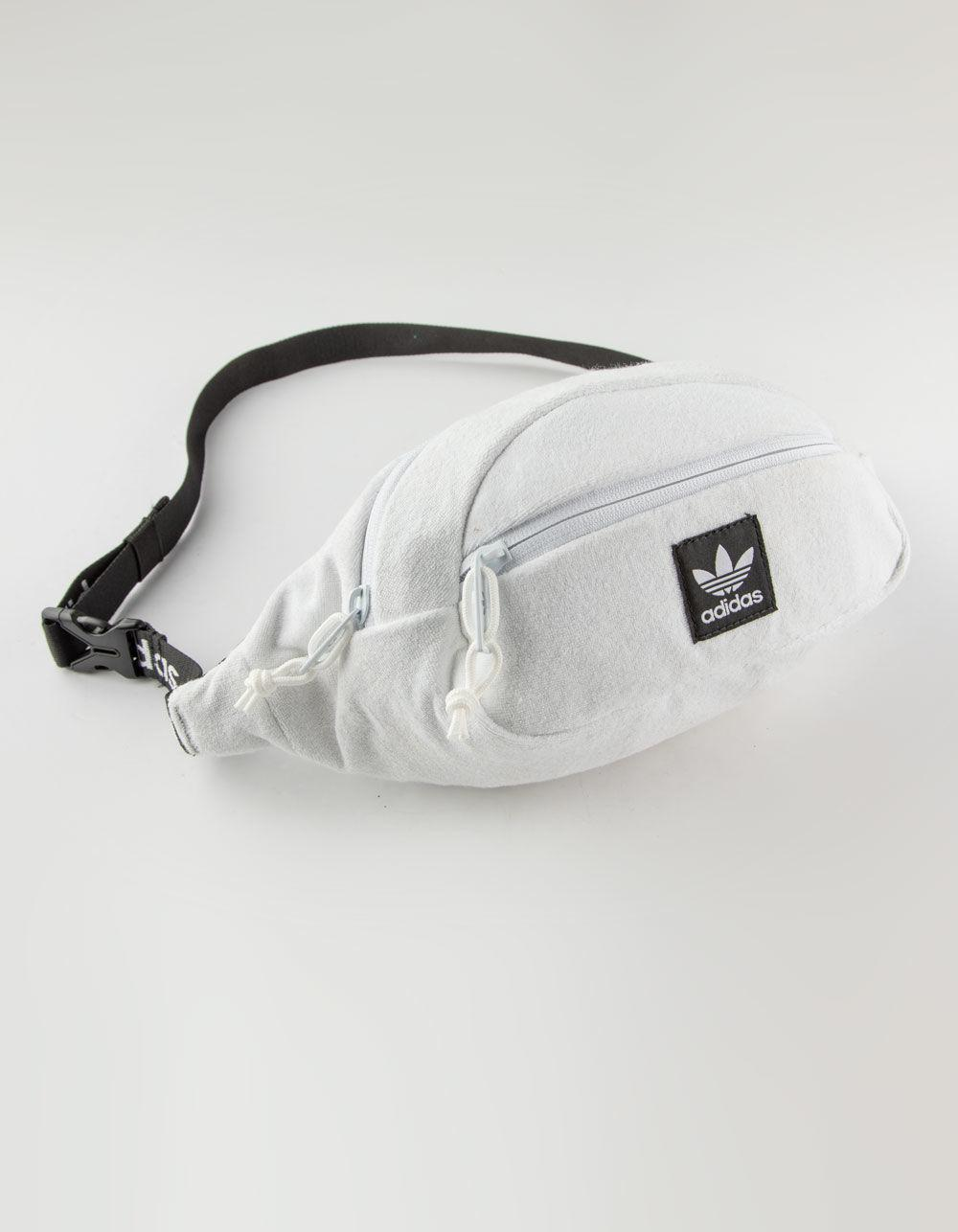 3330e18bd16 Lyst - adidas Originals Terry Waist White Fanny Pack in White