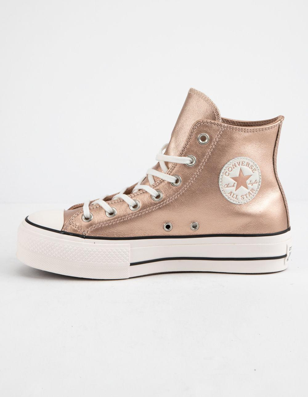 59cc2766320f05 Converse - Natural Chuck Taylor All Star Lift Particle Beige   White Womens  High Top Shoes. View fullscreen