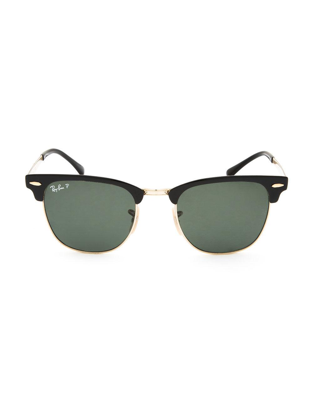 0a2b628885e4e Lyst - Ray-Ban Clubmaster Metal Black   Green Classic Polarized Sunglasses  in Green for Men