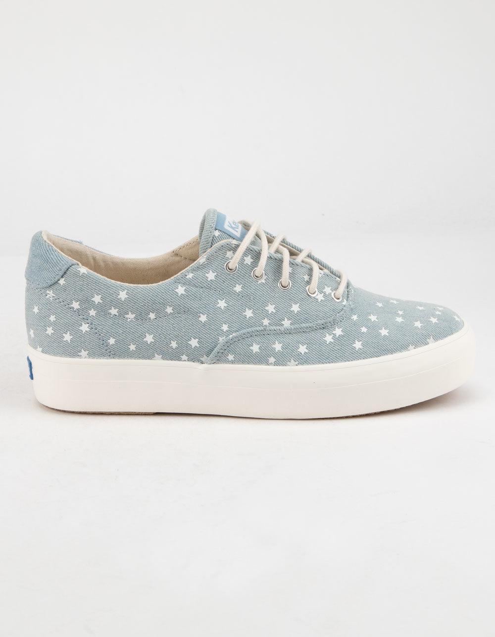 4ba3208a74468 Lyst - Keds Rise Denim Star Light Blue Womens Shoes in Blue