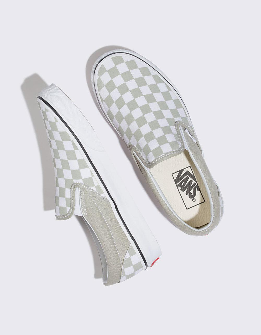 40e0de90f9be88 Lyst - Vans Checkerboard Classic Slip-on Desert Sage Womens Shoes - Save 31%