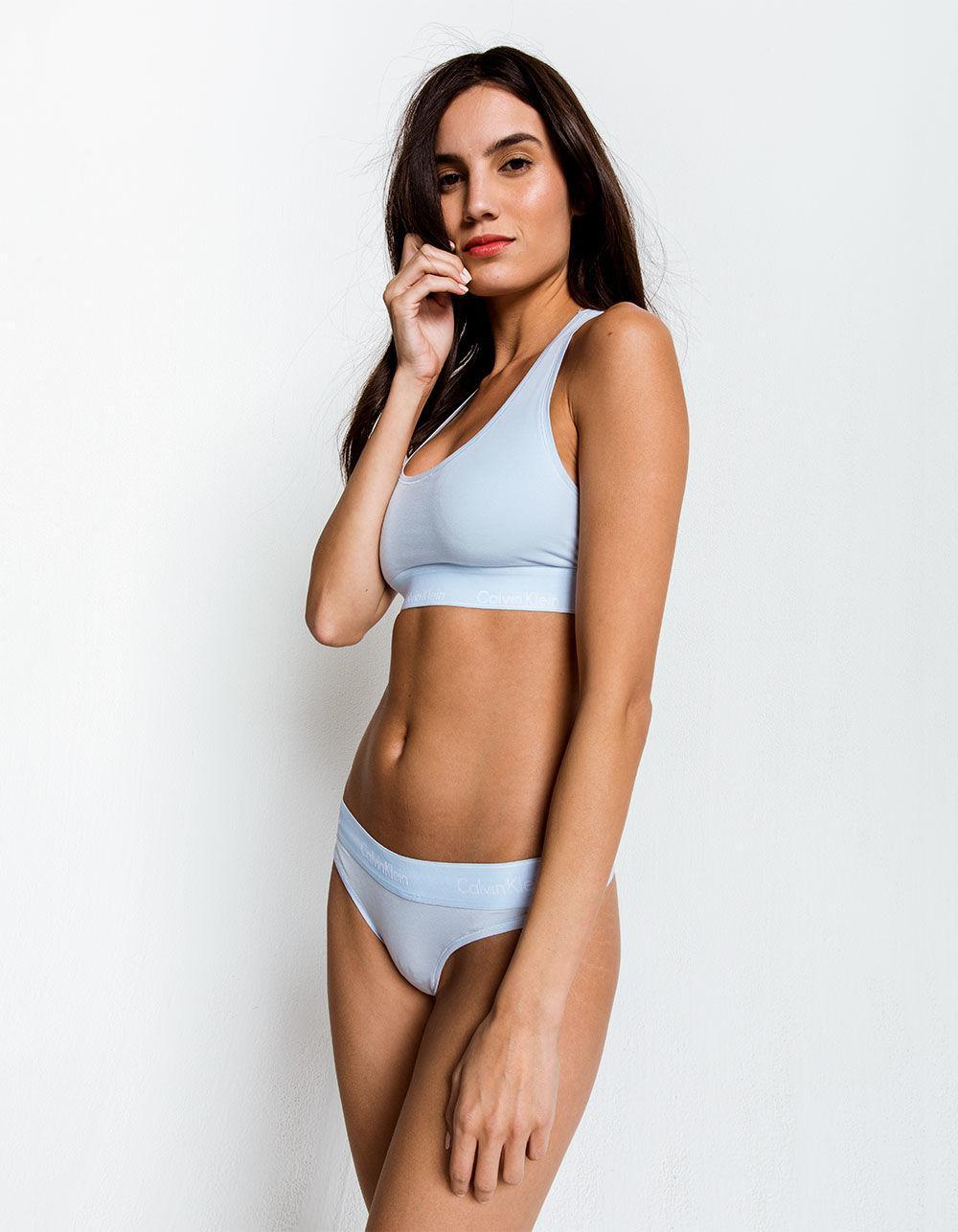 80eea5cbd7 Lyst - Calvin Klein Light Blue Thong in Blue