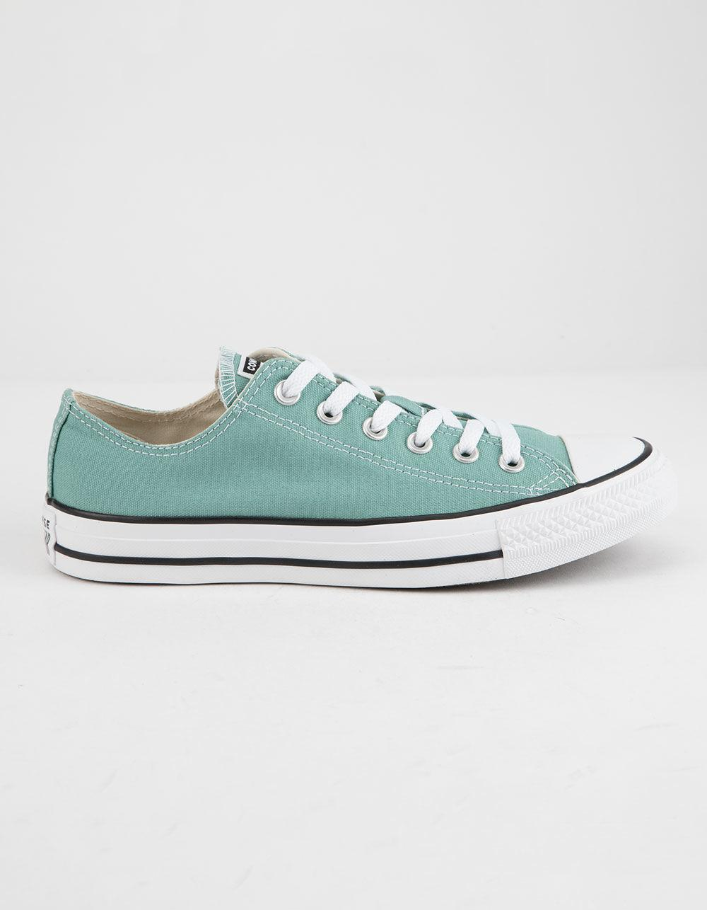 Converse. Blue Chuck Taylor All Star Mineral Teal Low Top Womens Shoes 5e37c351c