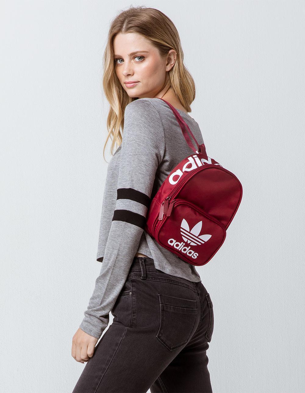 Lyst - adidas Originals Santiago Burgundy Mini Backpack in Red 53a1348e4a8a2