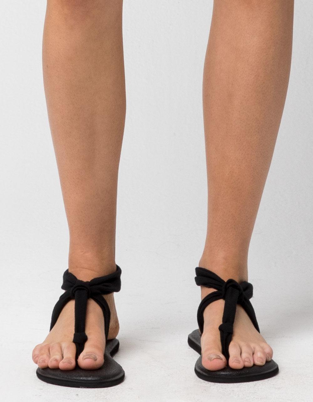 f3e64a58b19a Lyst - Sanuk Yoga Sling Ella Womens Sandals in Black