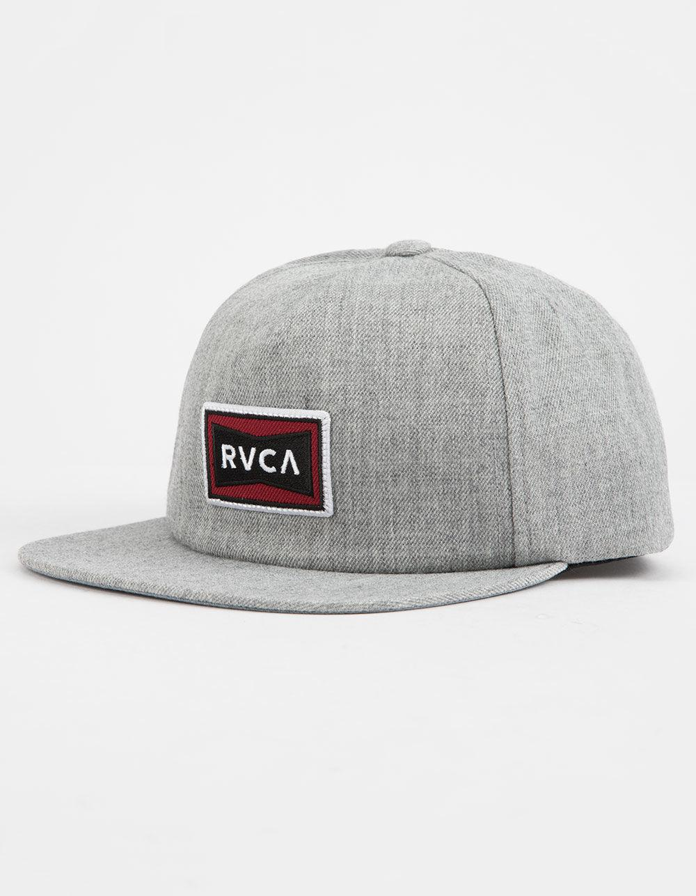 f330408c68a Lyst - Rvca Pace Structure Heather Gray Mens Snapback Hat in Gray ...