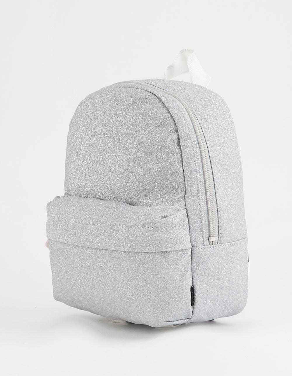 9d83ebdb070b Lyst - Converse X Miley Glitter Silver Mini Backpack in Metallic