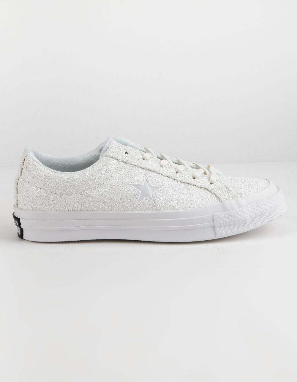 78f7dd59d5d2b7 Lyst - Converse One Star Ox Glitter White Womens Shoes in White