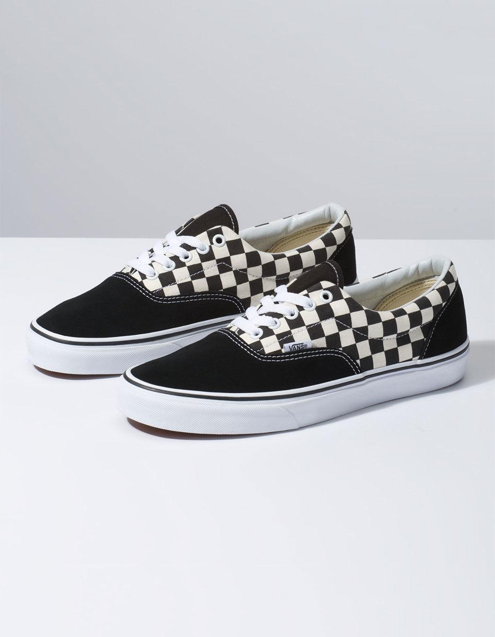 91cd77725cf Vans Primary Check Era Black & White Shoes in Black - Lyst