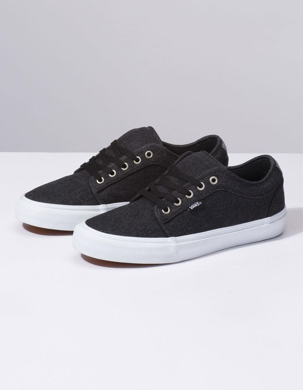 2a02deb23f Lyst - Vans Denim Chukka Low Black   Pewter Shoes in Black for Men