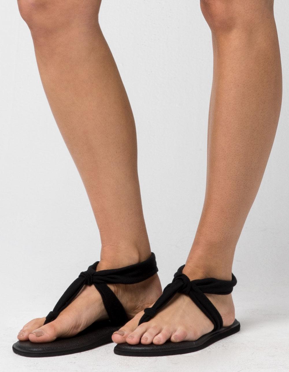 899f47231 Lyst - Sanuk Yoga Sling Ella Womens Sandals in Black