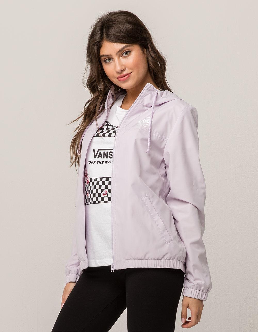 2e8bdc3129 Lyst - Vans Kastle Lavender Womens Windbreaker Jacket