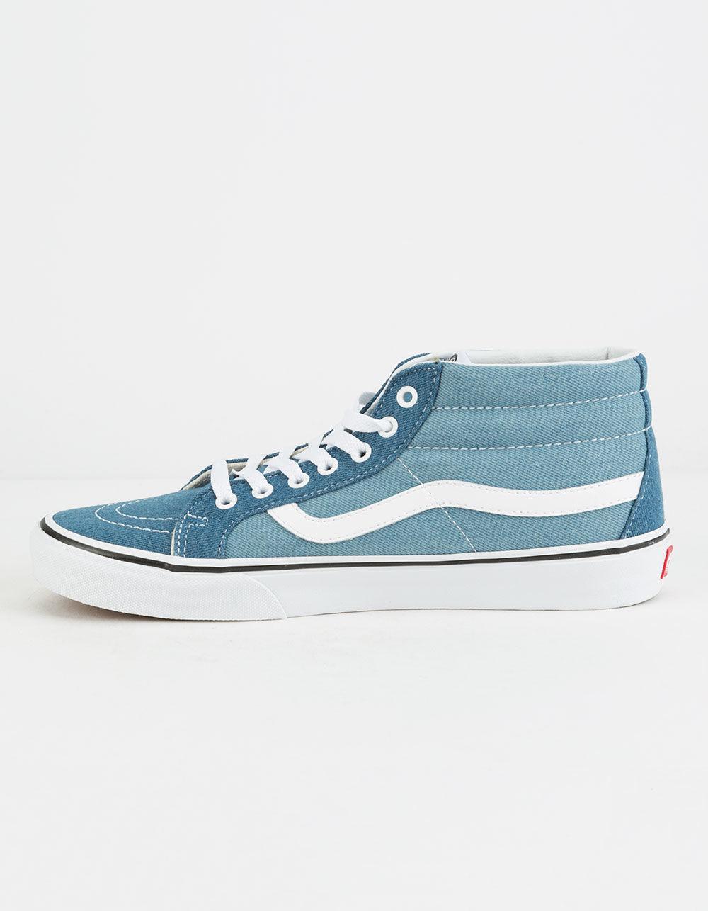 8f59efa7f5ae51 Lyst - Vans Denim 2-tone Sk8-mid Reissue Shoes in Blue for Men