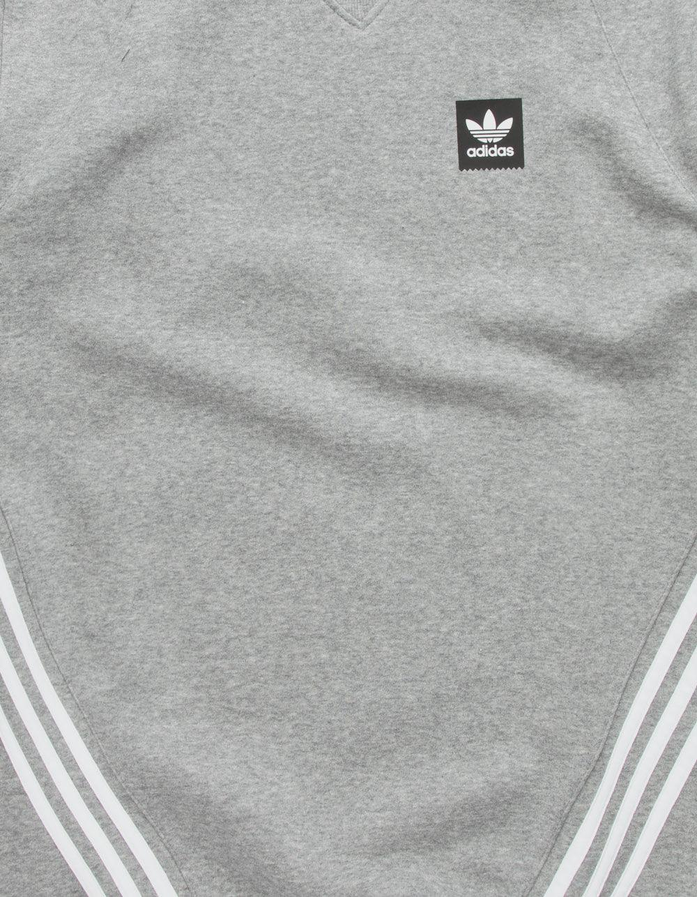 3a0c48a337b55 Lyst - adidas Insley Core Heather & White Mens Sweatshirt in White ...