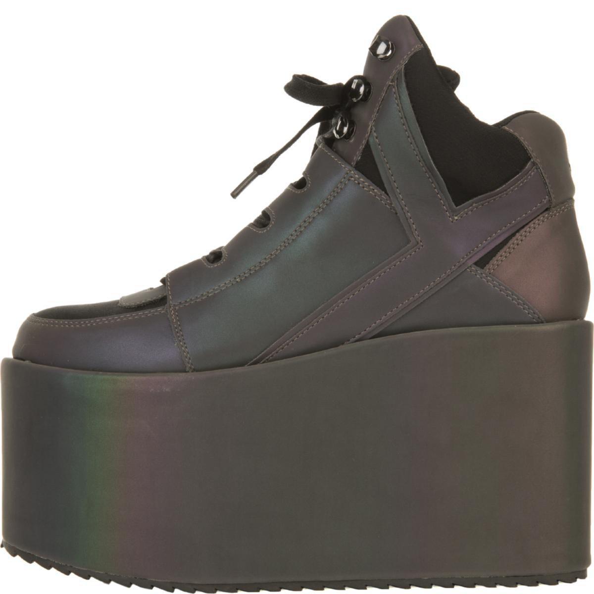 41559533ee1 YRU. Women s Qozmo Hi Reflective Platform Sneakers
