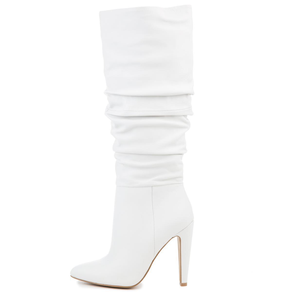 8754497c70e Lyst - Steve Madden Carrie 105 White Heeled Boots in White