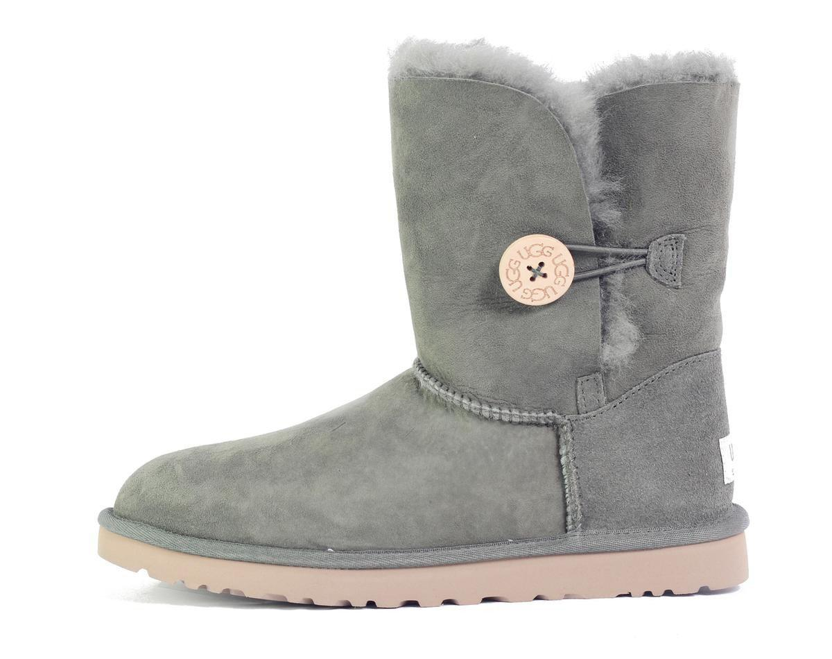 lyst ugg bailey button forest night boot in gray rh lyst com
