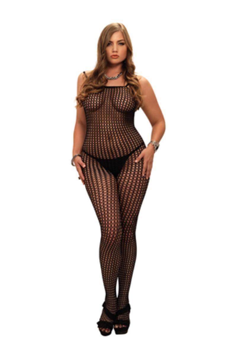 26778e035 Leg Avenue Seamless Crochet Bodystocking In Black in Black - Lyst