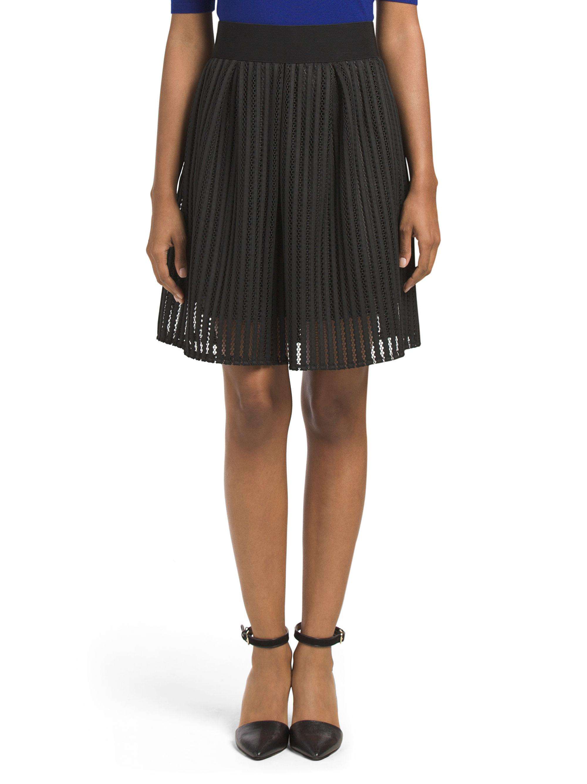 Tj Maxx Made In Italy Lined Mesh Skirt In Black Lyst