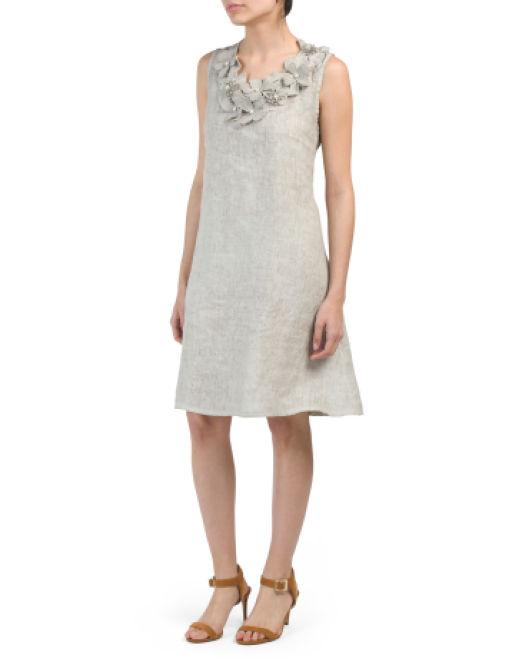 73ad65a08d2 Tj Maxx. Women s Made In Italy Linen Dress