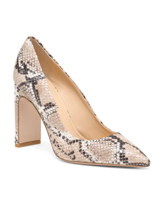 b6983dce6a Lyst - Tj Maxx Made In Italy Leather Snake Pumps