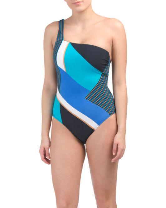 fc517261a03 Lyst - Tj Maxx Maritime One-piece Swimsuit in Blue