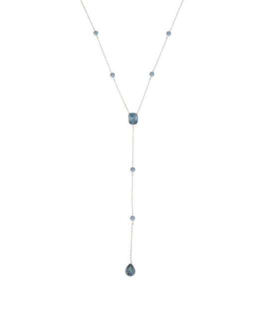 2fb54983c8e1e Lyst - Tj Maxx Sterling Silver Swarovski Crystal Y Necklace in Metallic