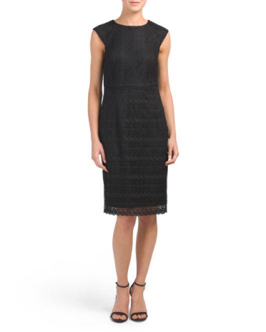 f02758a0 Lyst - Tj Maxx Chemical Lace Dress in Black