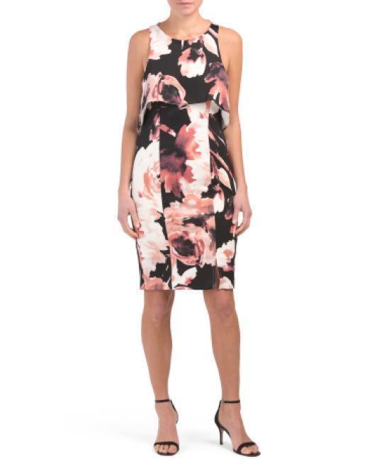 fea7f6206e20e Tj Maxx. Women's Multi Floral Popover Dress