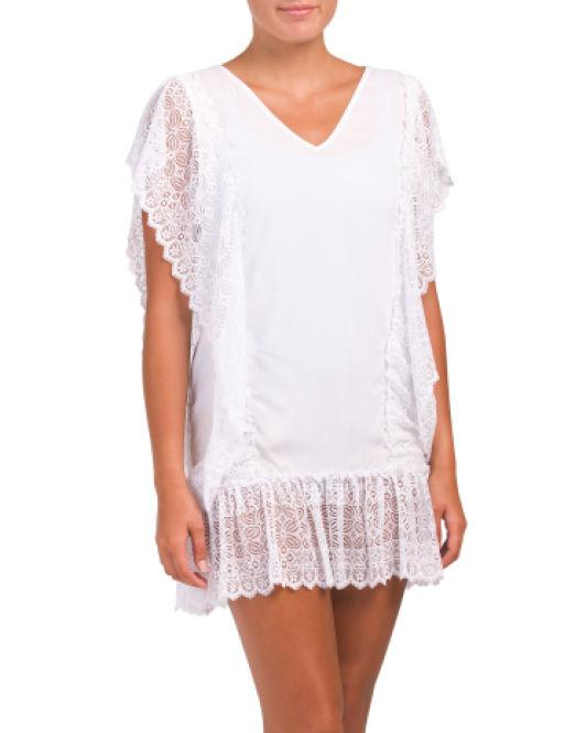 e20fd89f60ac Lyst - Tj Maxx Made In Colombia Antigua Blanca Cover-up Dress in White