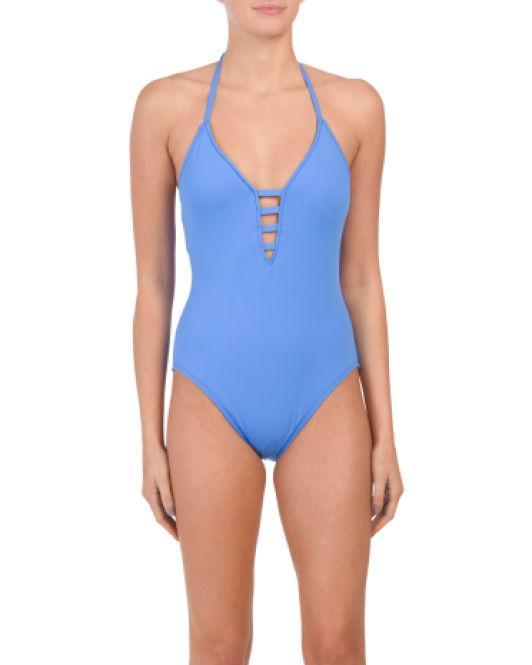ceb0b995eb272 Lyst - Tj Maxx Island Keyhole One-piece Swimsuit in Blue