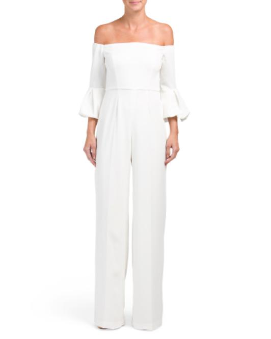 0e8fb26aea1 Lyst - Tj Maxx Griffith Off The Shoulder Jumpsuit in White