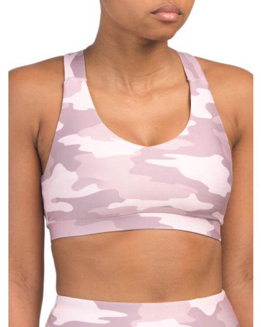 1af59c8de6791 Lyst - Tj Maxx Camo Bra With Removable Cups in Pink