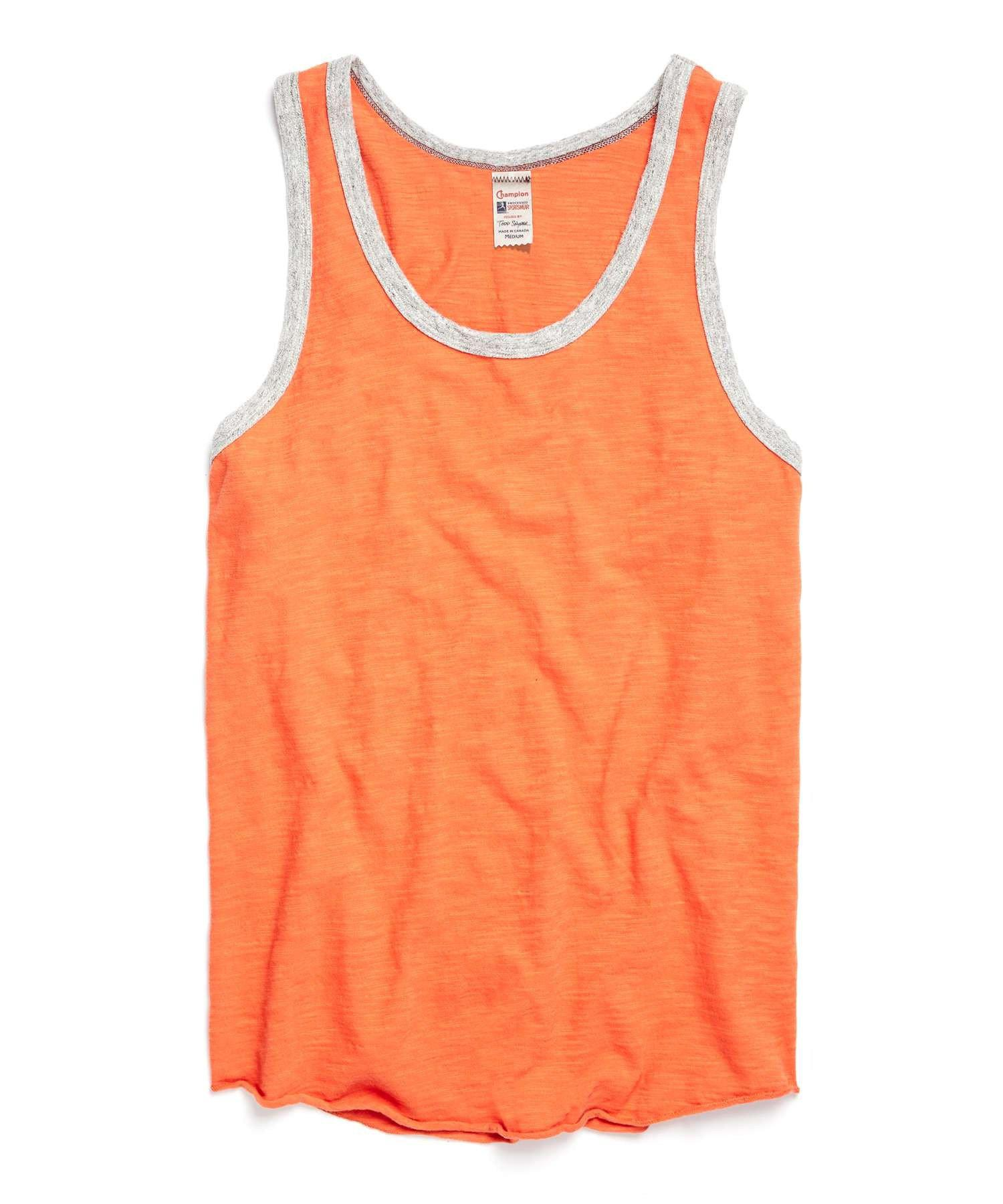 6bb20402f3dad Lyst - Todd Snyder Solid Ringer Tank Top In Rusty Orange in Gray for Men