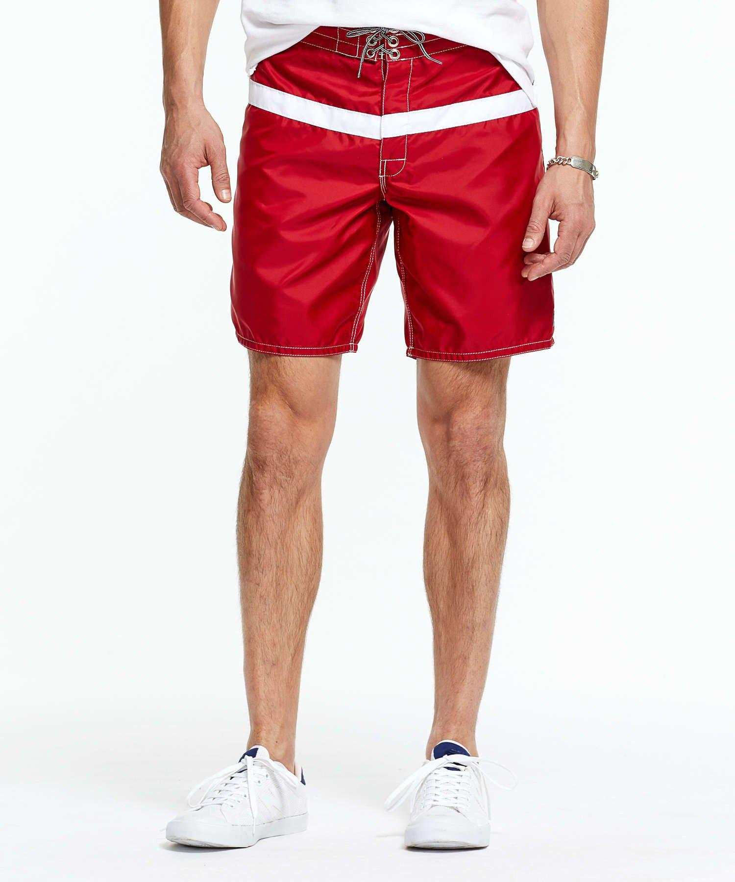 3cf70e8078 Todd Snyder Exclusive Birdwell 311 Board Shorts In Red Surf Stripe ...