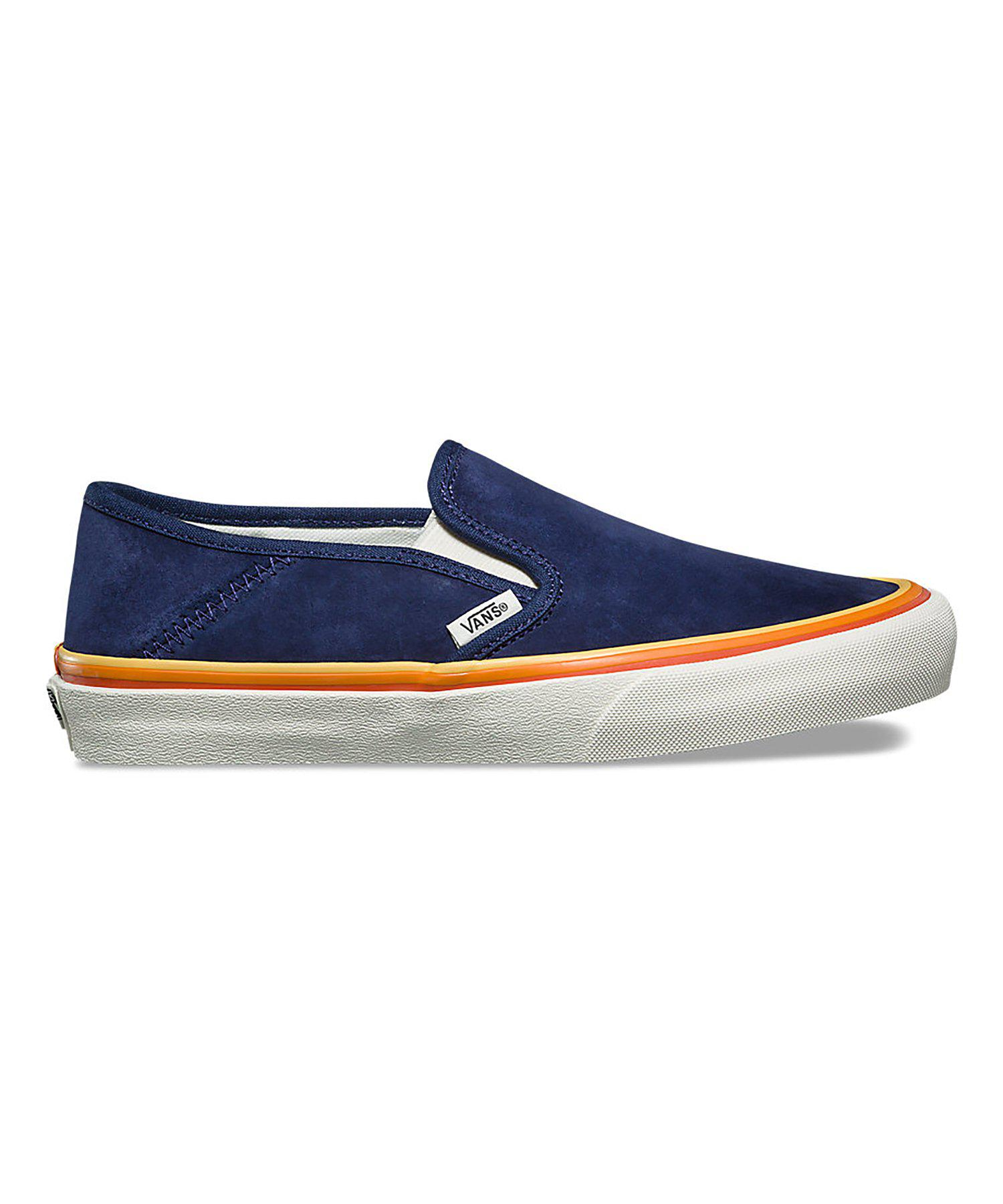de0256d3a4f4 Lyst - Vans Slip-on Sf In Retro Rainbow in Blue for Men