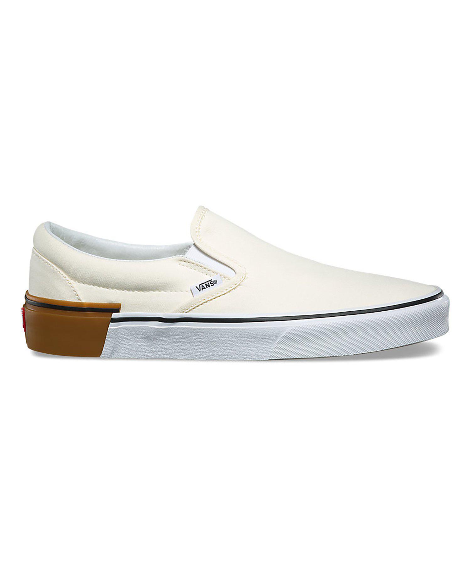 71a4e053988 Lyst - Vans Gum Block Slip-on In Classic White in White for Men