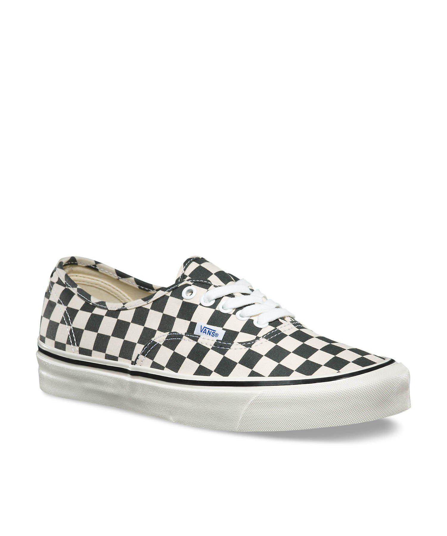 833d0d658e46 Lyst - Vans Anaheim Factory Authentic 44 Dx In Black Checkerboard in ...
