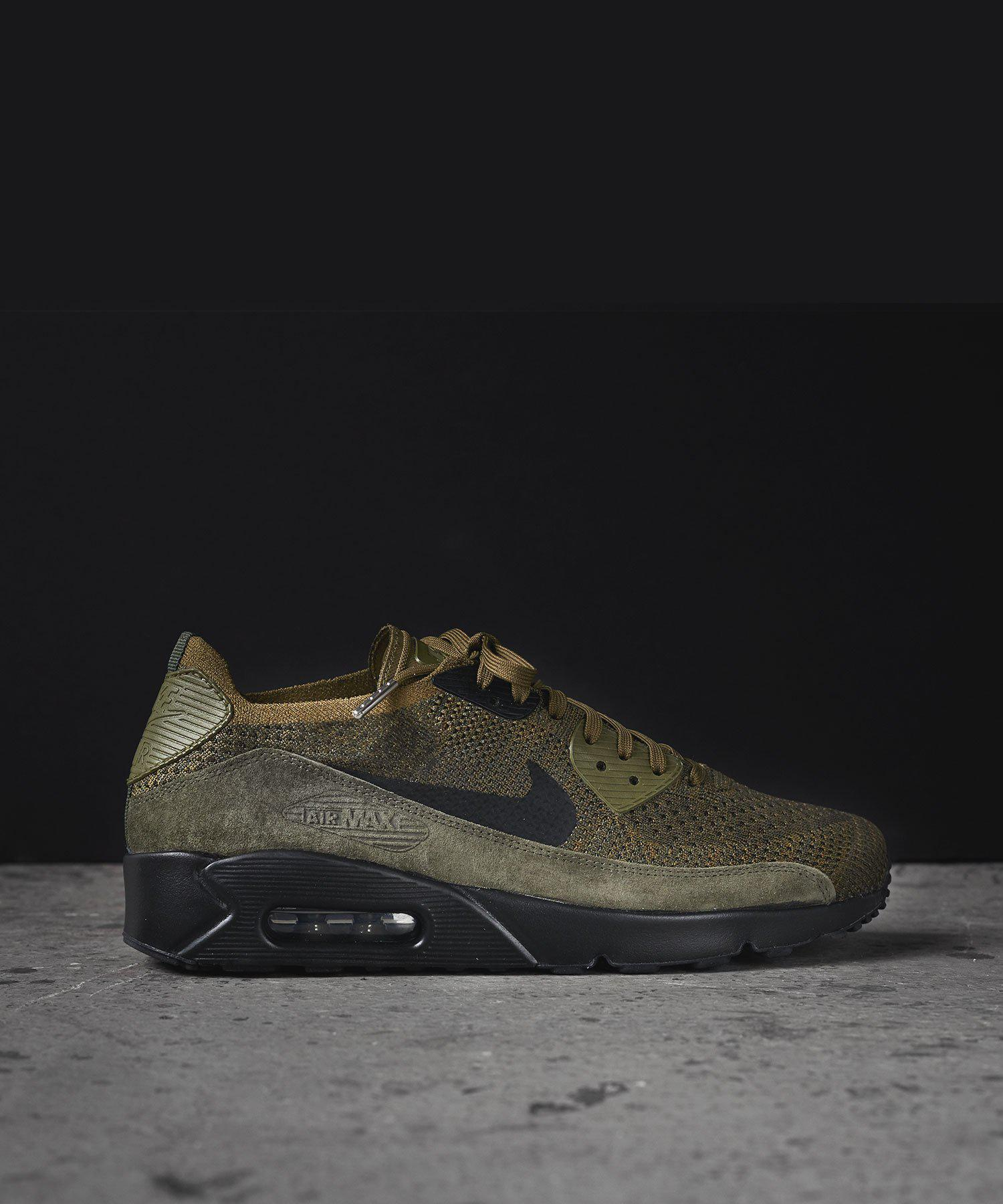 huge discount bb510 6582b Nike Air Max 90 Ultra 2.0 Flyknit In Olive in Green for Men ...