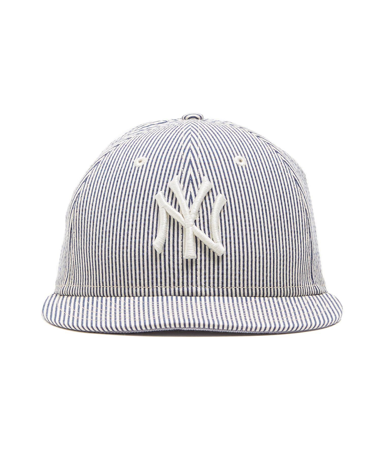 ac684e61d51 NEW ERA HATS New York Yankees Cap In Seersucker in Blue for Men - Lyst