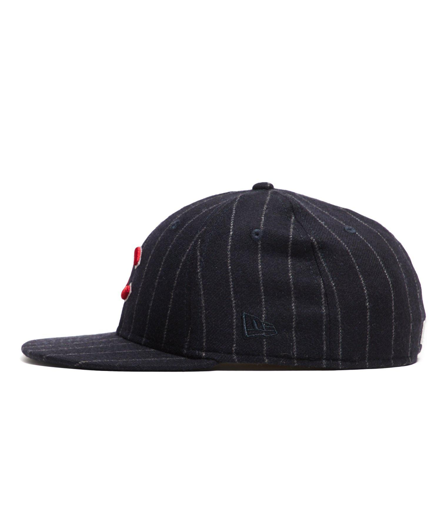 1a39652e755 Lyst - NEW ERA HATS Exclusive New Era Chicago Cubs Cap In Abraham Moon Navy  Wool Chalkstripe in Blue for Men