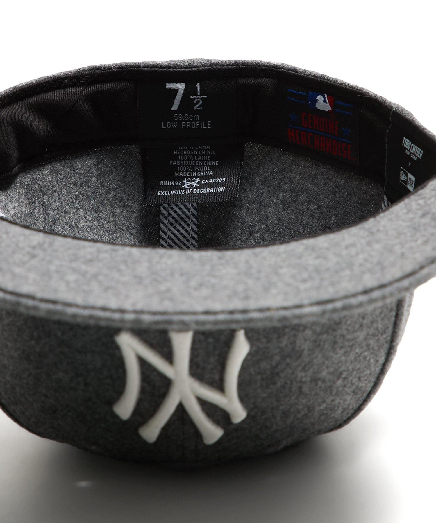 2222f405a91 Lyst - NEW ERA HATS Exclusive Ny Yankees Hat In Italian Barberis Grey Wool  Flannel in Gray for Men