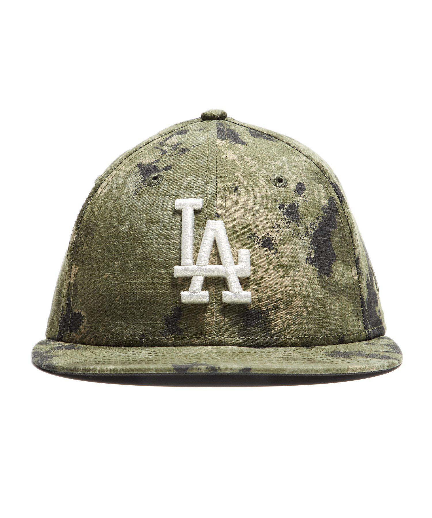 770b293f7b2 Lyst - NEW ERA HATS La Dodgers Cap In Camo Ripstop in Green for Men